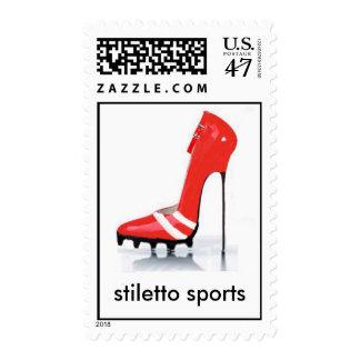 estilete rojo del listón, deportes del estilete sello postal