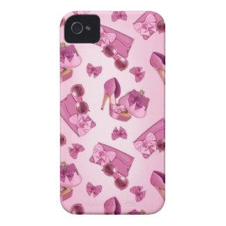 Estilete y monedero rosados del arco Case-Mate iPhone 4 carcasa