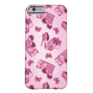 Estilete y monedero rosados del arco funda de iPhone 6 barely there