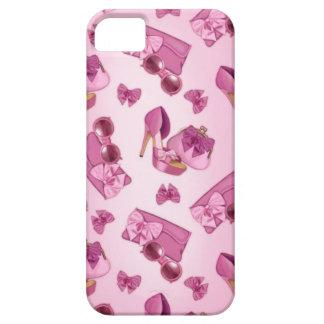 Estilete y monedero rosados del arco iPhone 5 fundas