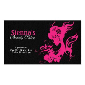 Estilista (de color rosa oscuro) tarjetas de negocios