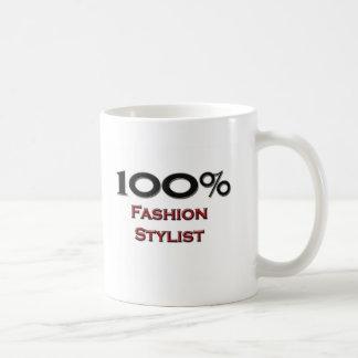 Estilista de la moda del 100 por ciento taza de café