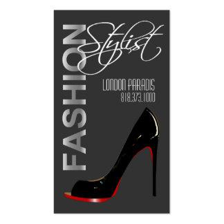 Estilista de la moda del estilete, diseñador de ve tarjetas de visita