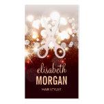 Estilista de moda - chispa del brillo del oro plantilla de tarjeta personal