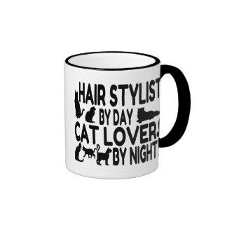 Estilista del amante del gato taza