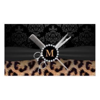 Estilista elegante del estampado leopardo del tarjetas de visita