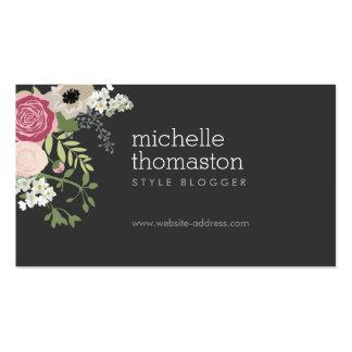 Estilista elegante del ramo floral, Blogger, Tarjetas De Visita