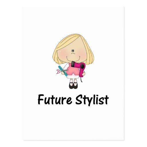 estilista futuro tarjeta postal