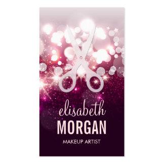 Estilista moderno - chispa rosada del brillo tarjetas de visita