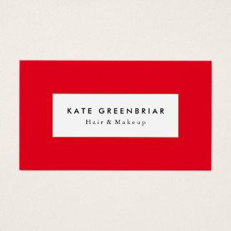 Estilista rojo moderno elegante de la belleza y de tarjetas de visita