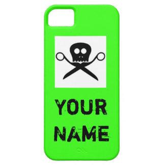 Estilista verde de encargo del caso de Iphone iPhone 5 Case-Mate Protectores