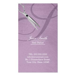 Estilista violeta moderno del monograma de la tarjeta de visita