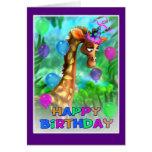 Estilo 005 de la selva del feliz cumpleaños tarjeta de felicitación