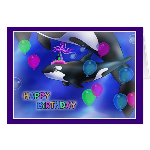 Estilo 010 de los pescados del feliz cumpleaños tarjetón