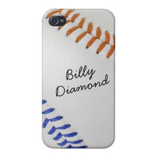 Estilo 1 de Baseball_Color Laces_og_bl_autograph iPhone 4/4S Carcasa