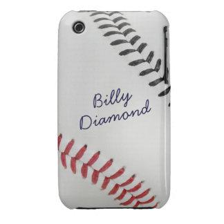 Estilo 1 de Baseball_Color Laces_rd_bk_autograph Case-Mate iPhone 3 Protector