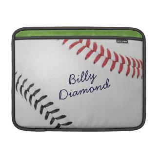 Estilo 1 de Baseball_Color Laces_rd_bk_autograph Funda MacBook