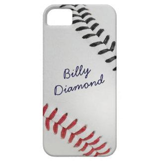 Estilo 1 de Baseball_Color Laces_rd_bk_autograph iPhone 5 Fundas