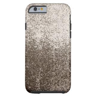 Estilo 1 del chapoteo del fango de Brown oscuro Funda De iPhone 6 Tough