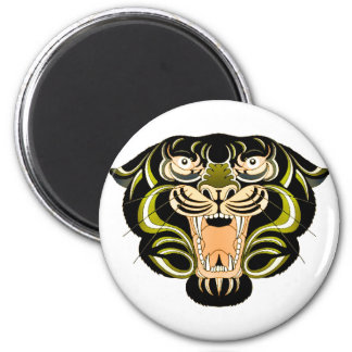 Estilo 1 del tigre imán redondo 5 cm