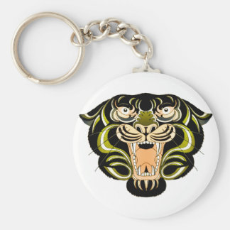 Estilo 1 del tigre llavero redondo tipo pin