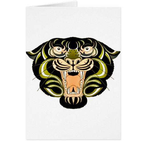 Estilo 1 del tigre tarjeta de felicitación