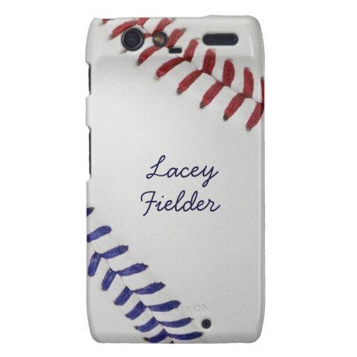 Estilo 2 de Baseball_Color Laces_nb_dr_autograph Droid RAZR Carcasa