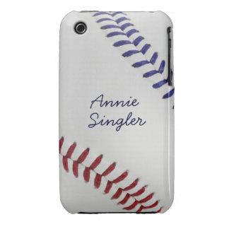 Estilo 2 de Baseball_Color Laces_nb_dr_autograph iPhone 3 Case-Mate Cárcasas