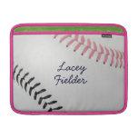 Estilo 2 de Baseball_Color Laces_pk_bk_autograph Fundas MacBook