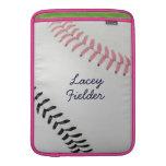 Estilo 2 de Baseball_Color Laces_pk_bk_autograph Funda MacBook