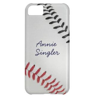 Estilo 2 de Baseball_Color Laces_rd_bk_autograph Funda Para iPhone 5C