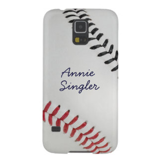 Estilo 2 de Baseball_Color Laces_rd_bk_autograph Fundas Para Galaxy S5