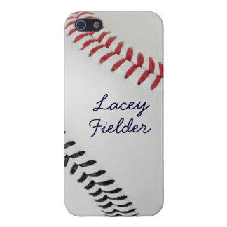 Estilo 2 de Baseball_Color Laces_rd_bk_autograph iPhone 5 Fundas