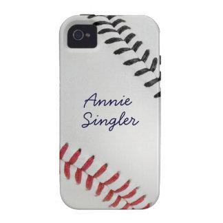 Estilo 2 de Baseball_Color Laces_rd_bk_autograph Vibe iPhone 4 Carcasas