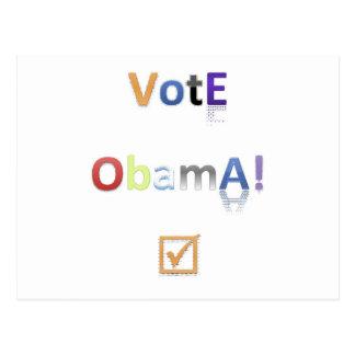 Estilo 2 de Obama del voto Postal