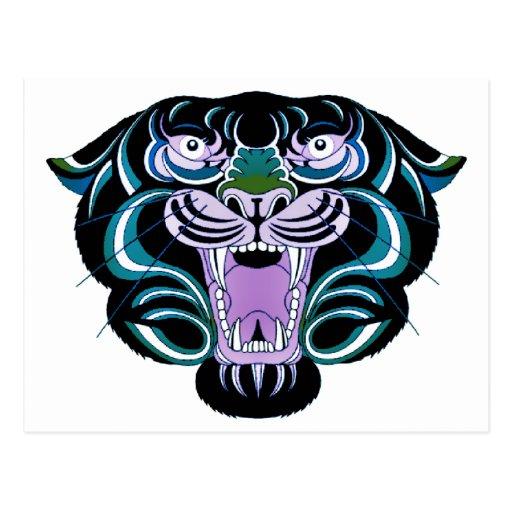 Estilo 2 del tigre tarjeta postal
