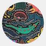 Estilo aborigen etiquetas redondas