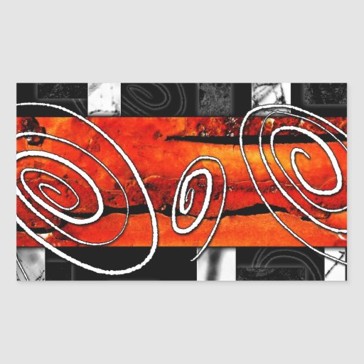 Estilo abstracto 02 pegatina rectangular