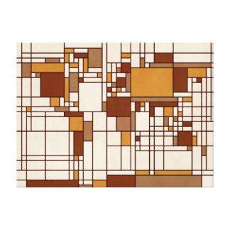 Estilo abstracto de Mondrian del mapa del mundo