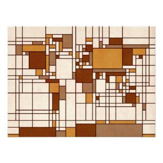 Estilo abstracto de Mondrian del mapa del mundo Cojinete