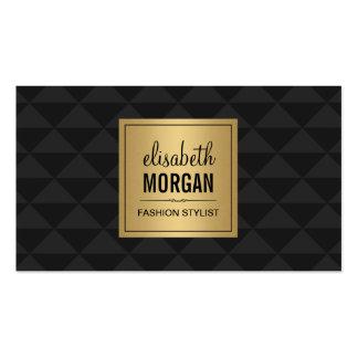 Estilo abstracto del diamante - oro negro de lujo tarjetas de visita