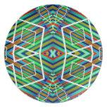 Estilo abstracto tribal geométrico colorido del mo