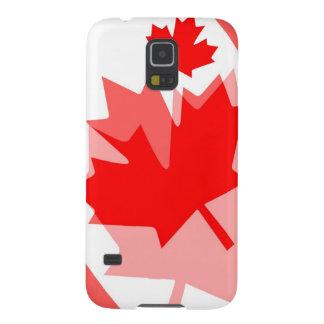 Estilo acodado hoja de arce canadiense CANADÁ Fundas Para Galaxy S5