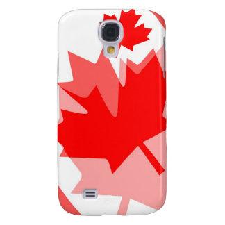 Estilo acodado hoja de arce roja canadiense CANADÁ Funda Para Galaxy S4