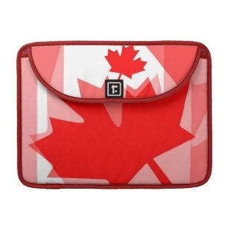 Estilo acodado hoja de arce roja canadiense CANADÁ Fundas Macbook Pro