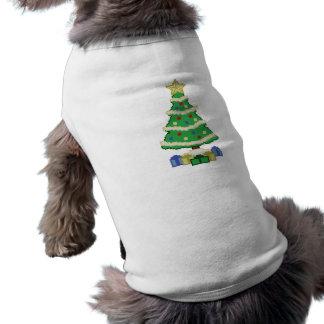 Estilo adornado del videojuego del árbol de playera sin mangas para perro