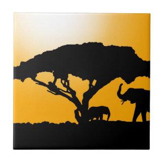Estilo africano teja cerámica