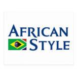 Estilo africano hecho en el Brasil Postales