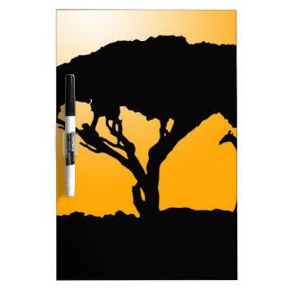Estilo africano tablero blanco