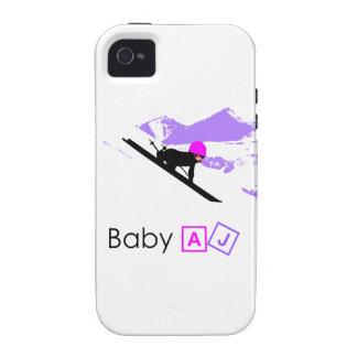 Estilo AJ de la cuesta del bebé iPhone 4 Fundas